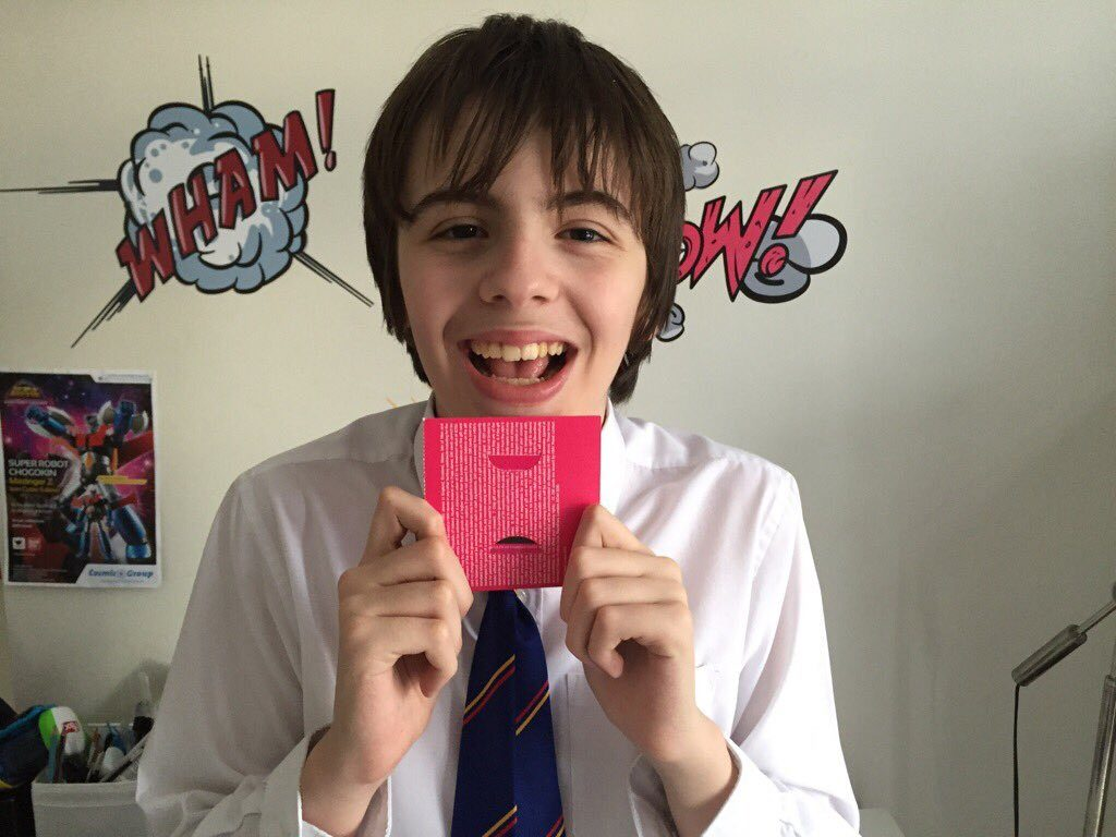 Jude Worthington, super-lucky second time winner of the child prize voucher this month